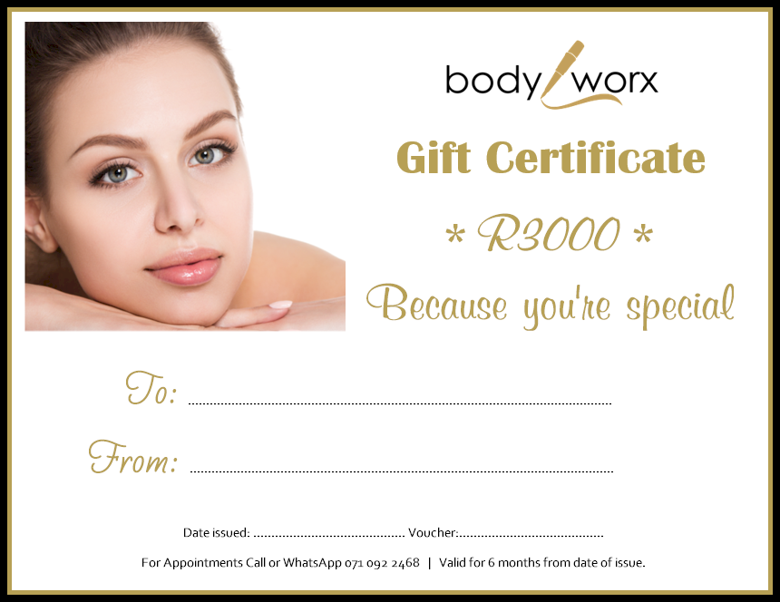 Body Worx Gift Certificate R3000
